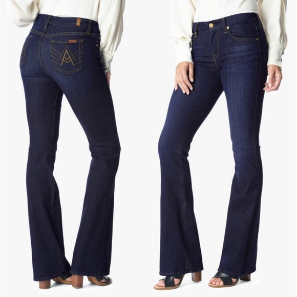 7 For All Mankind Denim - 7 For All Mankind 'A' Pocket Flare Dark Wash | 26